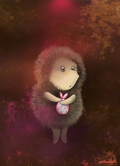 Hedgehog in the fog, Order illustrations, best illustrator, freelance illustrator, Kateryna fedorova, art katana