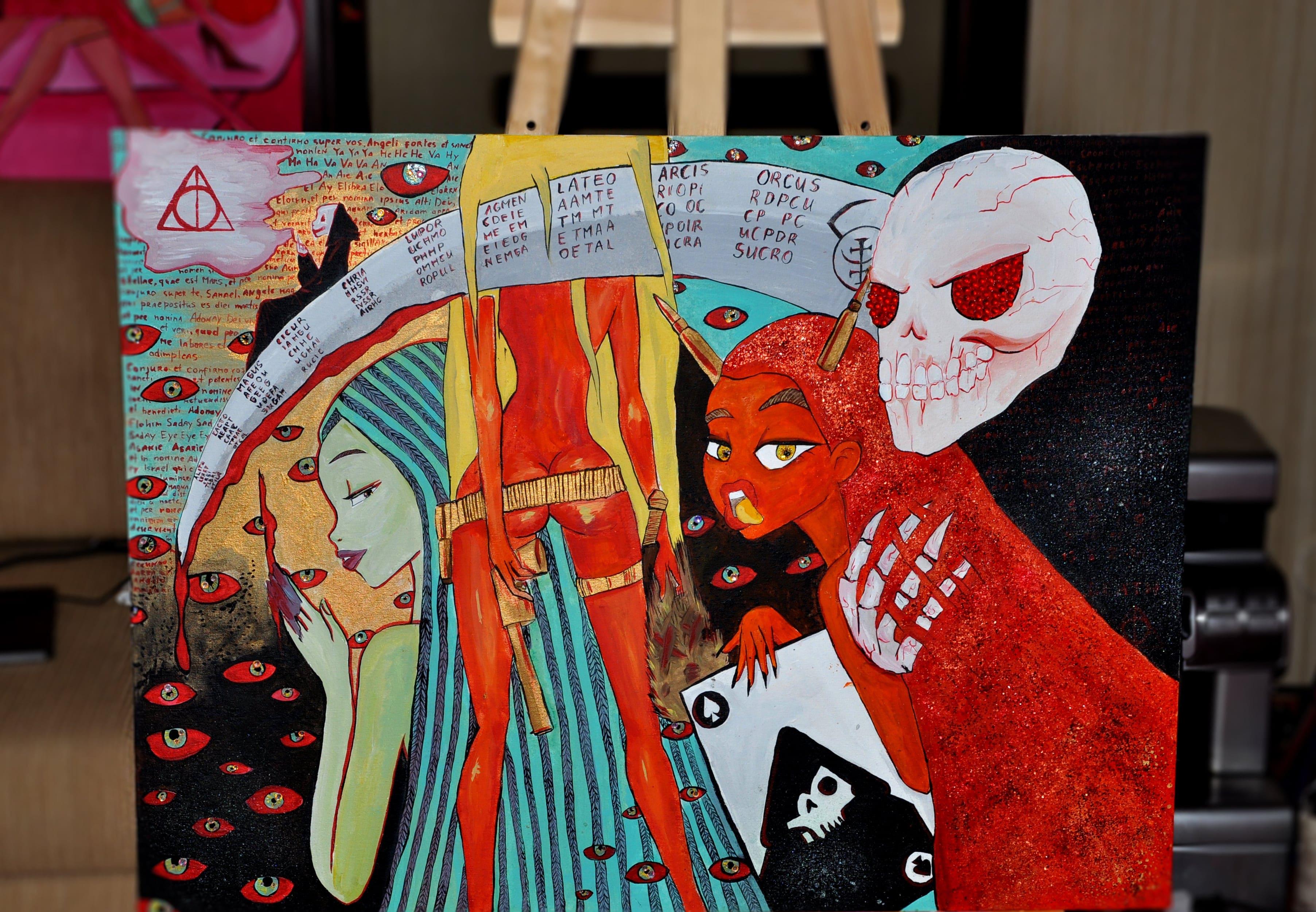 Kateryna Fedorova, illustrator, artkatana, art-katana, erotic girls, order art online, new art online